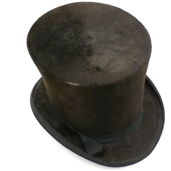 Antique Mens Stove Pipe Top Hat Silk Shelton & Co London 1870s - The Best Vintage Clothing  - 3