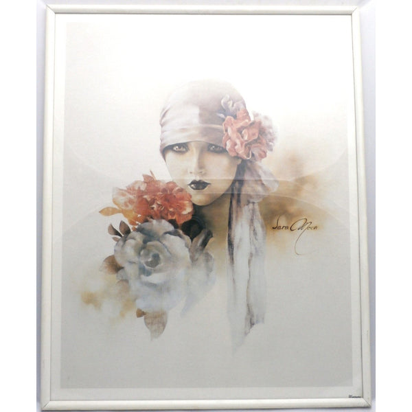 Vintage Framed Print Sara Moon Verkerke Beautiful 1980s Print w/ 1920s Look - The Best Vintage Clothing  - 3