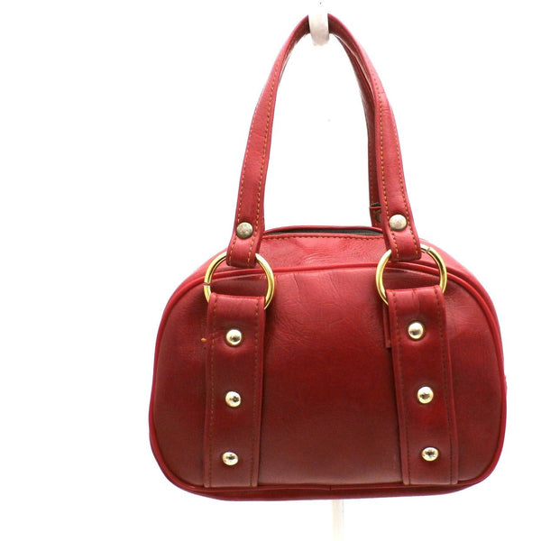Vintage Purse Petite Cherry Red Vinyl Mini Pocketbook 1970s - The Best Vintage Clothing  - 1