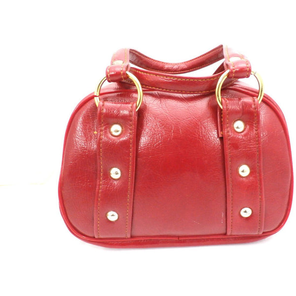 Vintage Purse Petite Cherry Red Vinyl Mini Pocketbook 1970s - The Best Vintage Clothing  - 3