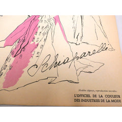 Schiaparelli Vintage Officiel De La Couleur Des Industries De La Mode No. 6 Hiver '52 - The Best Vintage Clothing  - 2