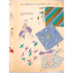 Schiaparelli Vintage Officiel De La Couleur Des Industries De La Mode No. 6 Hiver '52 - The Best Vintage Clothing  - 6