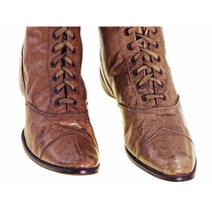 Rare Antique Childrens 1869 Civil War Era Tan High Lace Boots, Childrens Never Worn - The Best Vintage Clothing  - 6