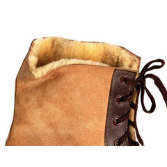 Mens Vintage Sherpa Suede 2-Tone Boots 1940S Mens Size 8.5 NIB Wannigan - The Best Vintage Clothing  - 4