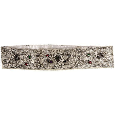 Vintage 1980s La Regale Beaded Womens Belt Silver & Clear Size M New Tags - The Best Vintage Clothing  - 1