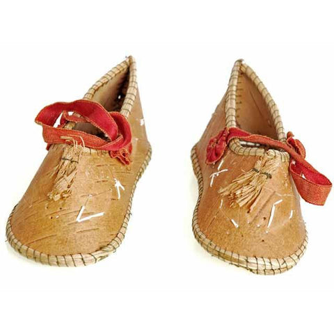 Rare Antique Childrens/ Babies  Shoes Chippewa Indian Bark 1920's - The Best Vintage Clothing  - 1