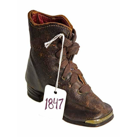 Rare Antique Childs Boot ( single) 1847 Hand Made - The Best Vintage Clothing  - 1