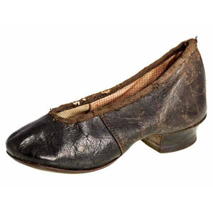 Antique Leather Childrens Slipper Shoe ( single) 1840s Hand Made - The Best Vintage Clothing  - 1