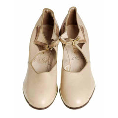 Vintage Beige Mary Jane Shoe 1920's Walk Over  EU 37 Ladies US 6.5N NIB - The Best Vintage Clothing  - 3
