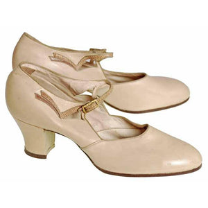 Vintage Beige Mary Jane Shoe 1920's Walk Over  EU 37 Ladies US 6.5N NIB - The Best Vintage Clothing  - 1