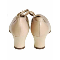 Vintage Beige Mary Jane Shoe 1920's Walk Over  EU 37 Ladies US 6.5N NIB - The Best Vintage Clothing  - 4
