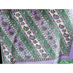 Vintage Acetate Scarf Sally Gee Purples & Greens 1960s - The Best Vintage Clothing  - 3