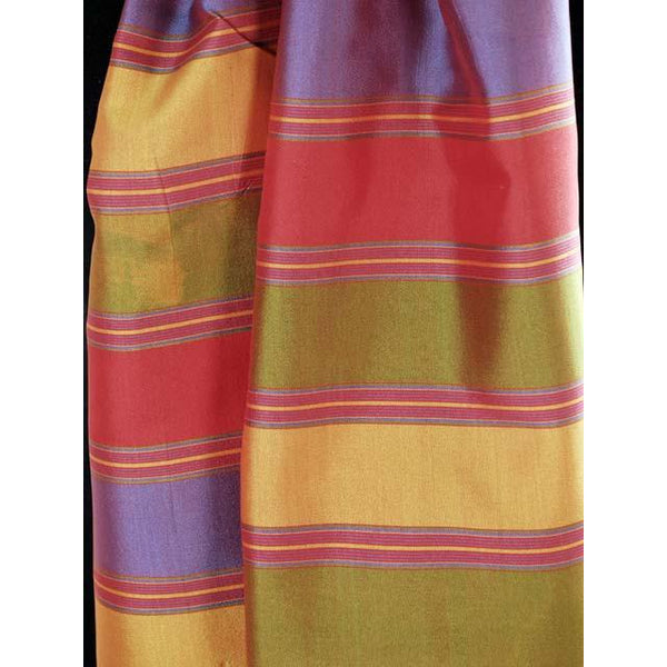 Vintage Silk Scarf Oblong Striped Changeable Silk Bright Colors 1920s - The Best Vintage Clothing  - 2