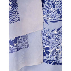 Vintage Scarf Square Blue Rayon Bandana Print 1940s Huge - The Best Vintage Clothing  - 2