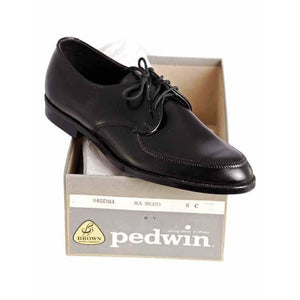 Vintage Boys Black  Oxford Pointed Toe Leather Shoes NIB 1950s - The Best Vintage Clothing  - 1