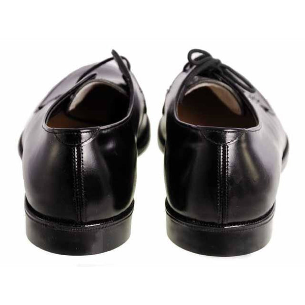Vintage Boys Black  Oxford Pointed Toe Leather Shoes NIB 1950s - The Best Vintage Clothing  - 4