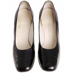 Vintage Black Shoes Pumps Margaret Jerrold 1970s 9AA & Box - The Best Vintage Clothing  - 4