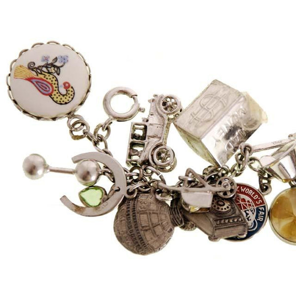 Vintage Charm Bracelet Bell Telephone Sterling Silver 23 Charms '64 Worlds Fair - The Best Vintage Clothing  - 5