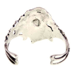 Antique Sterling Silver Art Nouveau Ladies Cuff  Bracelet Huge Female Figural - The Best Vintage Clothing  - 4
