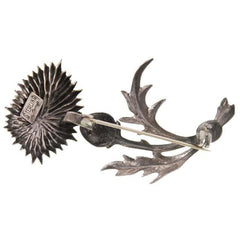 Vintage Lang Sterling Brooch Large Thistle Flower 1950s - The Best Vintage Clothing  - 2
