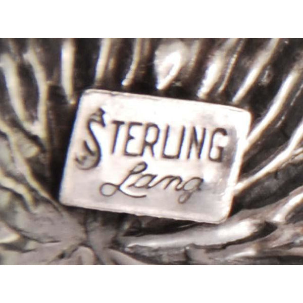 Vintage Lang Sterling Brooch Large Thistle Flower 1950s - The Best Vintage Clothing  - 3