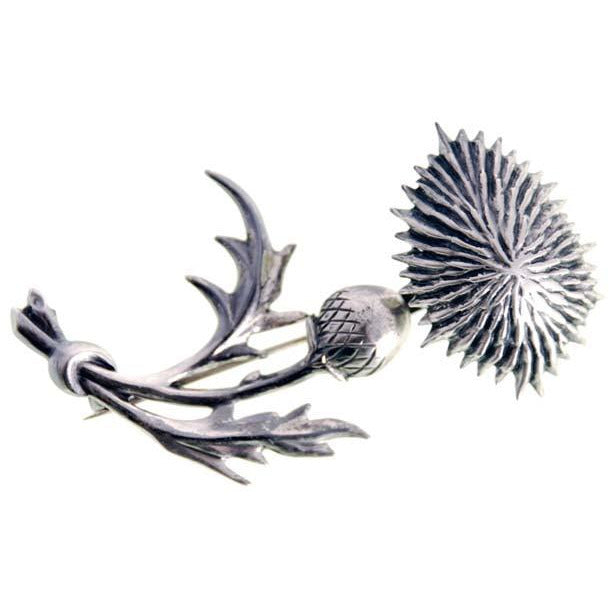 Vintage Lang Sterling Brooch Large Thistle Flower 1950s - The Best Vintage Clothing  - 1