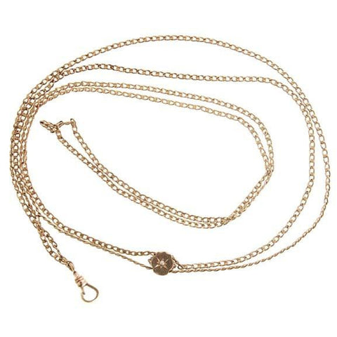 Antique Gold Filled Watch Chain  &  SlideW/ Pearls   Victorian - The Best Vintage Clothing  - 1
