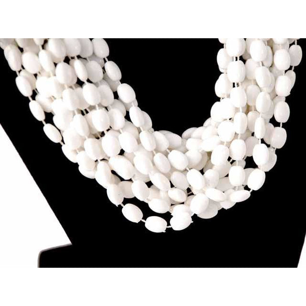 Vintage  Estate Jewelry Necklace Choker White-White Beads Vogue 1950S - The Best Vintage Clothing  - 2