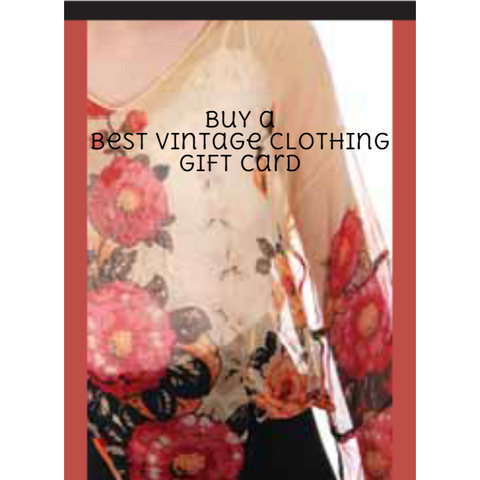Gift Card - The Best Vintage Clothing