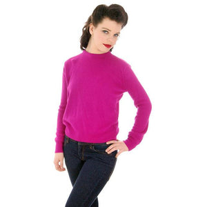 Vintage Orlon Sweater Fuchsia Color Long Sleeve Donna Dean 1950s - The Best Vintage Clothing  - 1