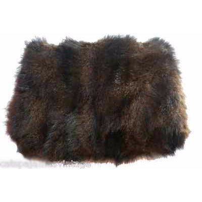 Antique Brown Muskrat Fur Muff Victorian Large Excellent Original - The Best Vintage Clothing  - 1