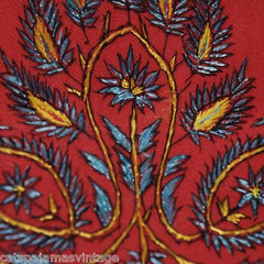 Antique Embroidered Linsey-Woolsey Red Shawl 1860S - The Best Vintage Clothing  - 1
