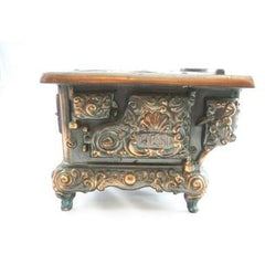 RARE Antique Stern West Miniature  Stove Copper Bronze  Heavy - The Best Vintage Clothing  - 2