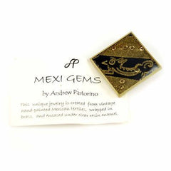 Brooch  Mexican Hand Painted Skirt 1940'S Mexi-Gems - The Best Vintage Clothing  - 2