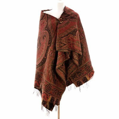 Exceptional Antique  Civil War Era Wool Paisley Shawl 1860s
