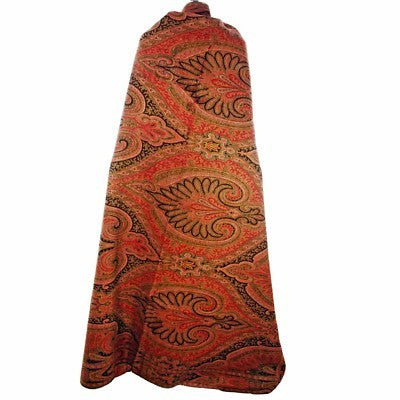 Exceptional Antique  Civil War Era Wool Paisley Shawl 1860s - The Best Vintage Clothing  - 3