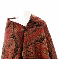 Exceptional Antique  Civil War Era Wool Paisley Shawl 1860s - The Best Vintage Clothing  - 4