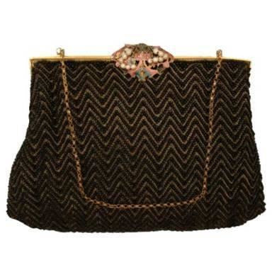 H. A. & E. Smith French Beaded Evening Bag 1920'S