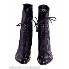 Antique Leather Boots Black Victorian Kid  Walk Over NIB #3 Womens Size EU37 US 6.5 - The Best Vintage Clothing  - 3