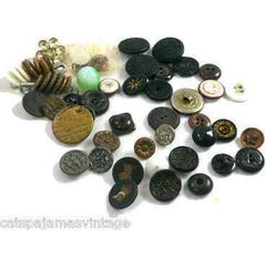 Lot of Vintage & Antique Buttons Sheaf & Sickle More 37 - The Best Vintage Clothing  - 1