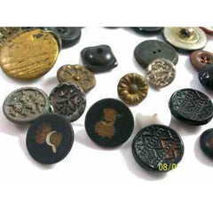 Lot of Vintage & Antique Buttons Sheaf & Sickle More 37 - The Best Vintage Clothing  - 2