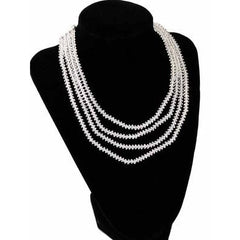 Petite Vintage Cut Glass 4 Strand Necklace 1940S - The Best Vintage Clothing  - 1