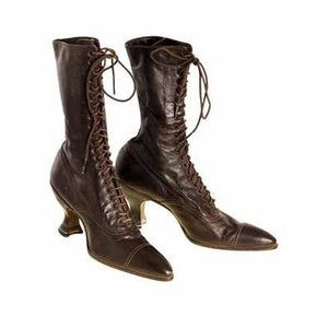 Victorian Ladies Julia Marlowe Boots w/Louis Spool Heels Brown 1900 Size 6  NWOT - The Best Vintage Clothing  - 1
