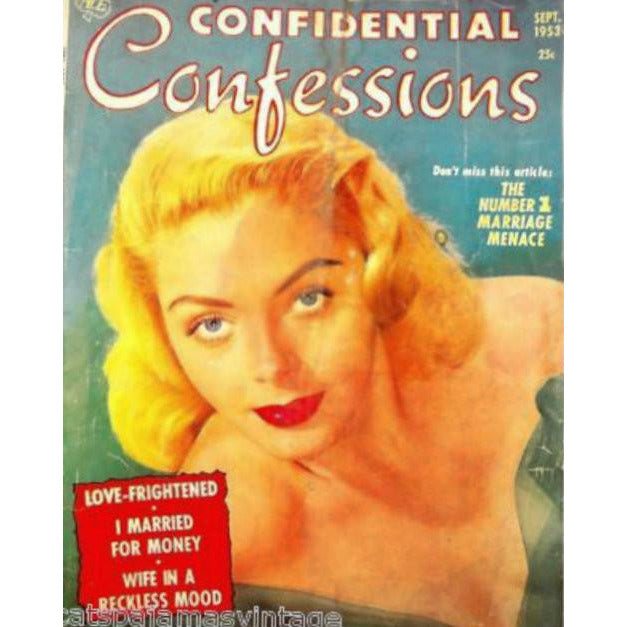 Vintage  Confidential Confessions Magazine September  1953 - The Best Vintage Clothing
