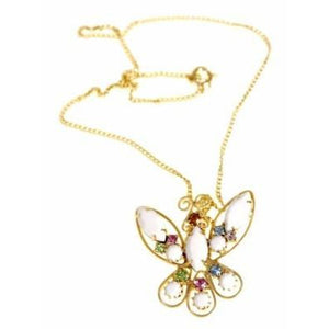 Vintage  Filigree Butterfly Necklace/Delicate Chain 1960S - The Best Vintage Clothing  - 1