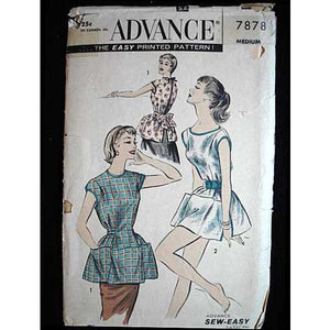 Vintage Advance Cobbler Bib Apron Pattern #7878 1950'S - The Best Vintage Clothing  - 1