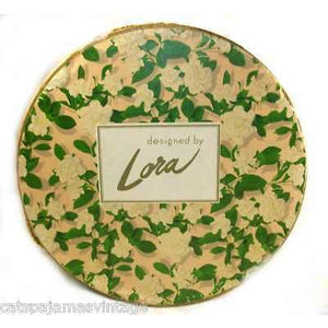 "Vintage Lora"" Floral Hat Box 1950S 12"""" Diameter - The Best Vintage Clothing  - 1"