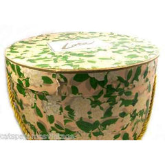 "Vintage Lora"" Floral Hat Box 1950S 12"""" Diameter - The Best Vintage Clothing  - 2"