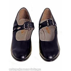Antique Shoes Mary Janes  Black Leather 1920s WALK OVER NIB Size EU37 6.5 US - The Best Vintage Clothing  - 3