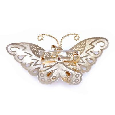 Vintage Brooch Goldtone Butterfly Pin 1950S - The Best Vintage Clothing  - 2